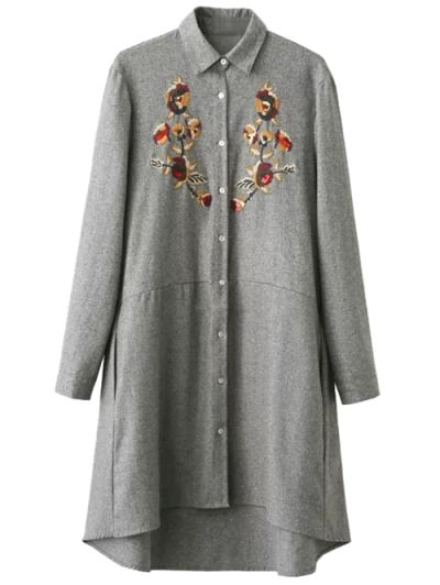 SHARE & Get it FREE | Embroidered Long Sleeve Tunic Shirt DressFor Fashion Lovers only:80,000+ Items • New Arrivals Daily Join Zaful: Get YOUR $50 NOW!