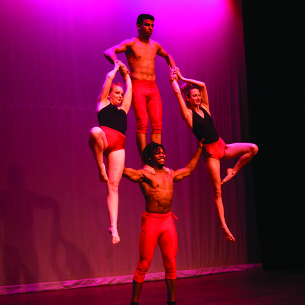 Here we have Josh, Laura, Sara and Reda demonstrating another feet of hand-to-hand balance and acrobatics.  #cabaret #hand-to-hand #tumbling #TheImperialOPA #Circus #Atlanta #OPA #AtlantaCircus ------------- #1 rated entertainment booking company in GA!   Contact us today and lets make unforgettable events together!