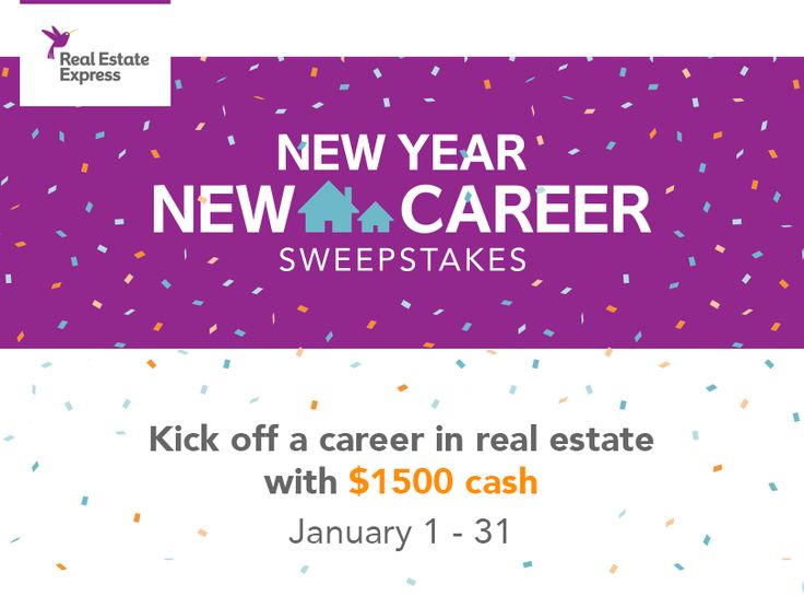 Kick off a career in real estate with $1,500 cash. Enter to win by January 31.