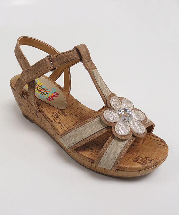 Look at this Rachel Shoes Natural Smooth Allegra Sandal on #zulily today!
