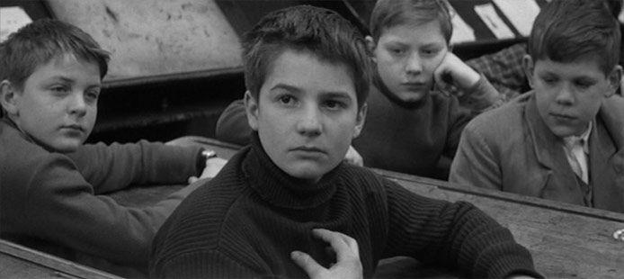 a very young jean-pierre léaud in truffaut's 'les quatre cents coups' (1959)