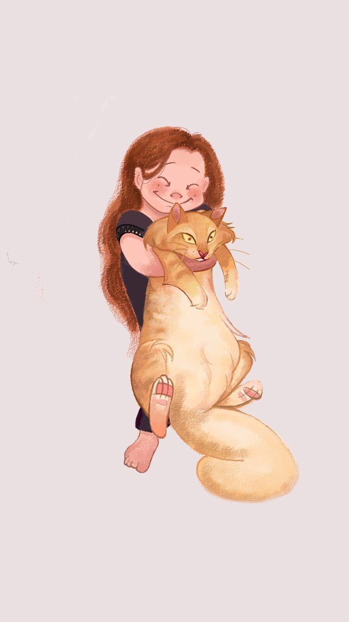 I drew my SO's sister and her cat today !