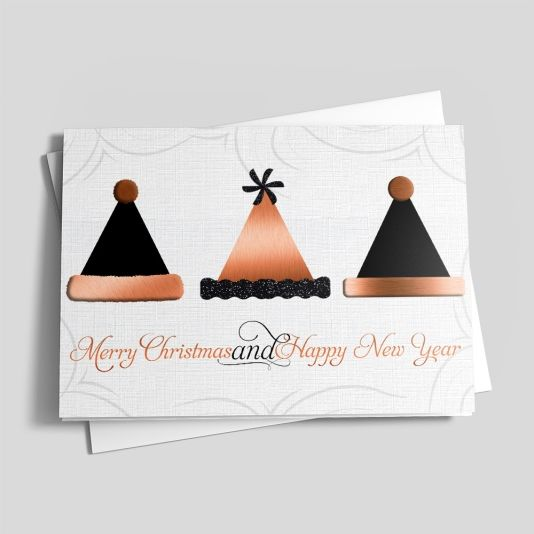 Hats Off - Business Christmas Cards from CardsDirect