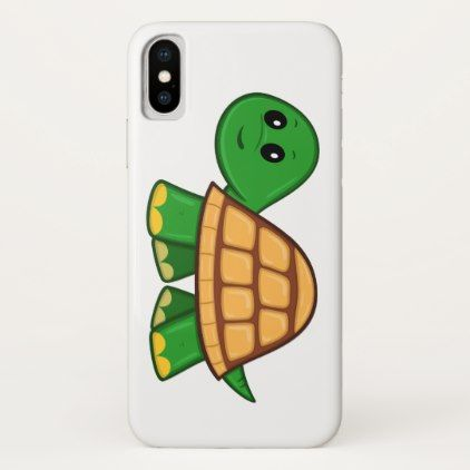 Cute Cartoon Turtle iPhone X Case - retro gifts style cyo diy special idea