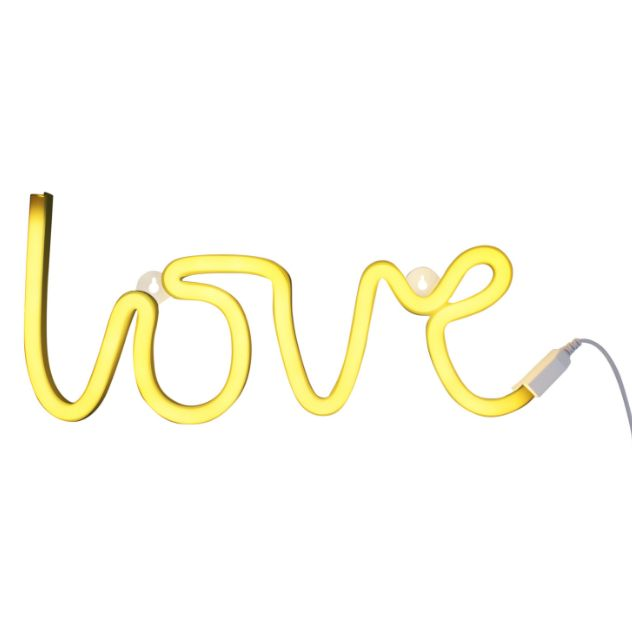 A little lovely company Neon stijl lamp: Love – geel - PRE ORDER