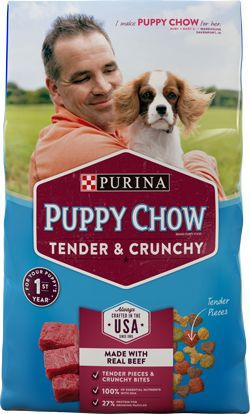 Purina® Puppy Chow® Tender & Crunchy feeding guidelines