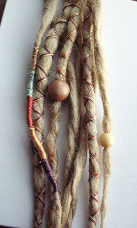 10 Custom Dreads Hair Wraps & Beads Bohemian Hippie Dreadlocks Blonde Tribal Falls Synthetic Boho Colored Extensions Hair Accessories by PurpleFinchStore on Etsy https://www.etsy.com/listing/96130064/10-custom-dreads-hair-wraps-beads