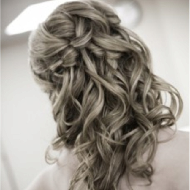 haircuts thick hair pictures half up do wedding ideas half up and 3754