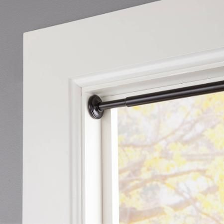 "$16.99 x2 eclipse 5/8"" Diameter Room Darkening Tension Curtain Rod - Walmart.com-fit inside your window casing and twist the rod to lock in place-this is a 3 piece tension rod for extra length."