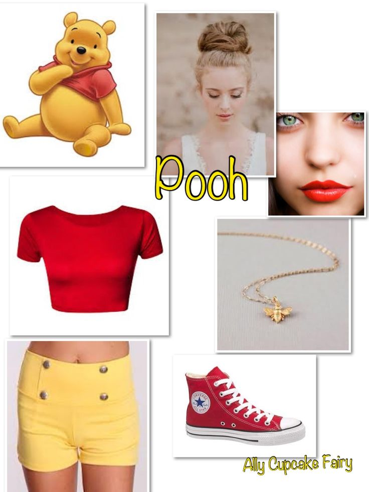 Pooh  Disney Inspired Outfit... I can't wear a midriff shirt, but it's simple and cute