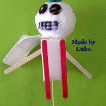 Luke's terrific puppet from one of today's workshops at Seaford North Primary School