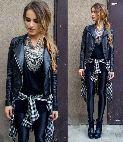 Leder Leggings Outfit Winter