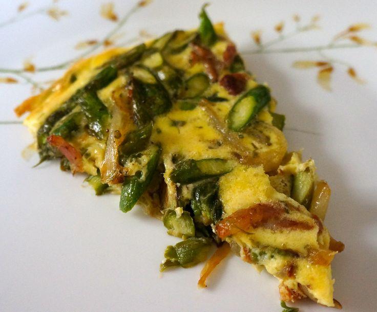 Bacon asparagus frittata | Recipe's | Pinterest