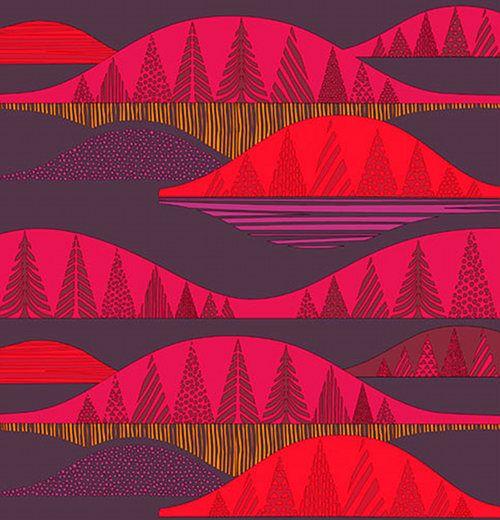 Kultakero fabric designed by Sanna Annukka for Marimekko via Design Sponge