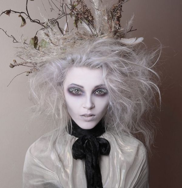 Tim Burton Inspired Makeup - Hollow Eyes And White Eyelashes - By White Rabbit Make Up Artist By ...