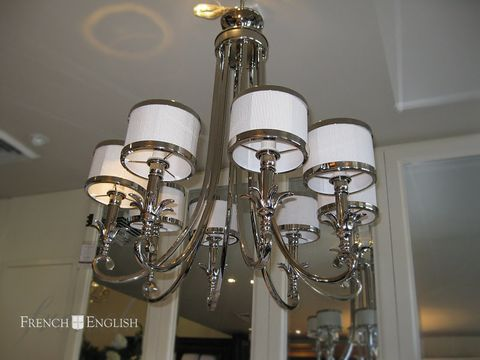 Instantly add glamour to your home with our range of New York chandeliers. The combination of Nickel coating and crystal drops create a sense of luxury in any space.
