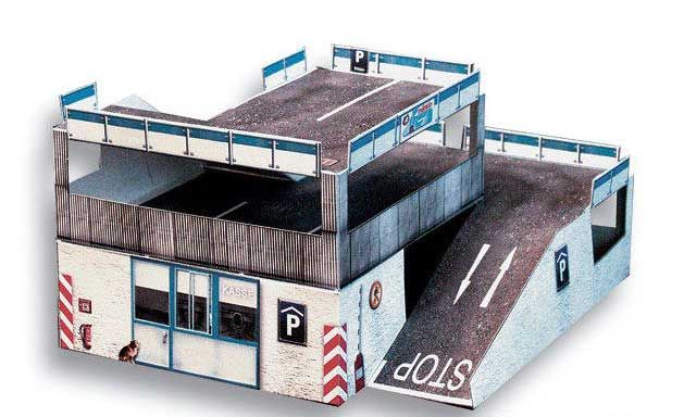 Free Scifi Buildings Papercraft