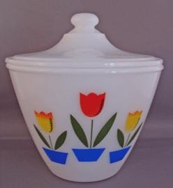Fire King Tulip Grease Jar