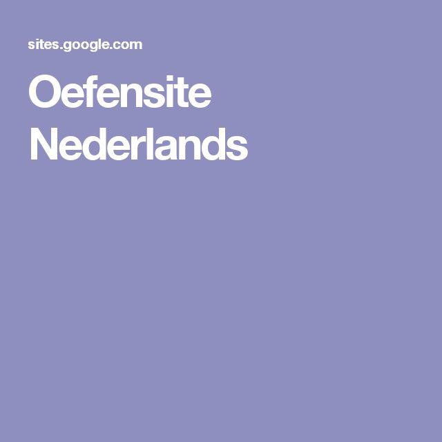 Oefensite Nederlands