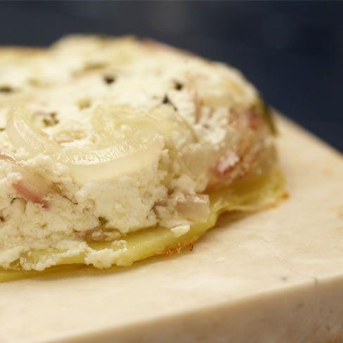 Aardappeltatin met rode uit en #geitenkaas