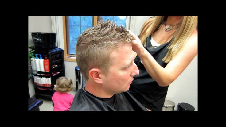 men's/boys haircut - short and slightly long on top with side part - you tube