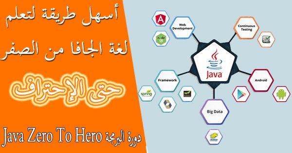 دورة البرمجة Java Zero To Hero اسهل طريقة في تعلم لغة الجافا من البداية الي الاحتراف Big Data Data Map