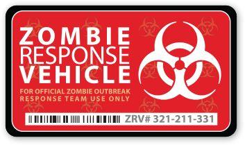 Zombie Response Vehicle Sticker, I really really want this...