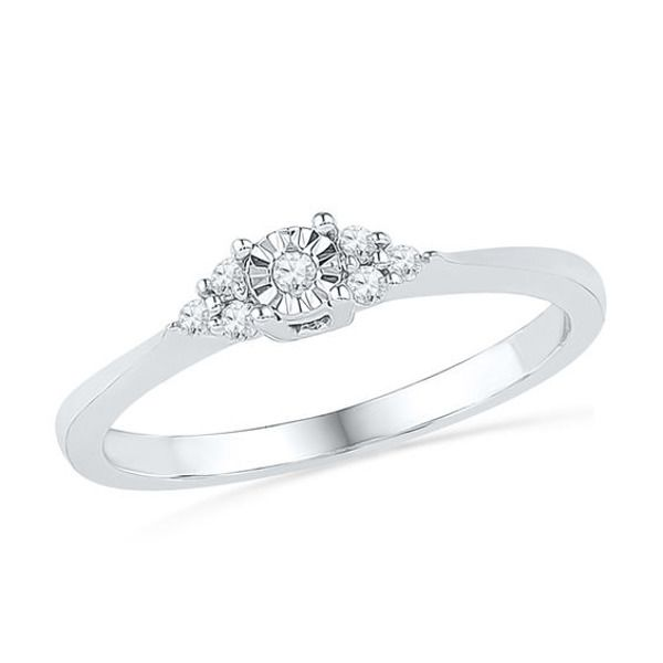 1 10 Ct T W Diamond Tri Side Promise Ring In 10k White Gold In 2020 Fashion Rings Diamond Promise Rings Promise Rings For Her