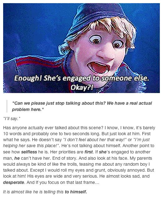 I wondered why I one was talking about this!  Awww Kristoff<3