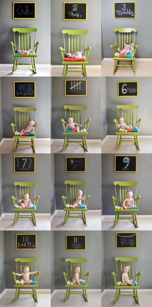 Baby monthly photos... ah I just need a cool chair!