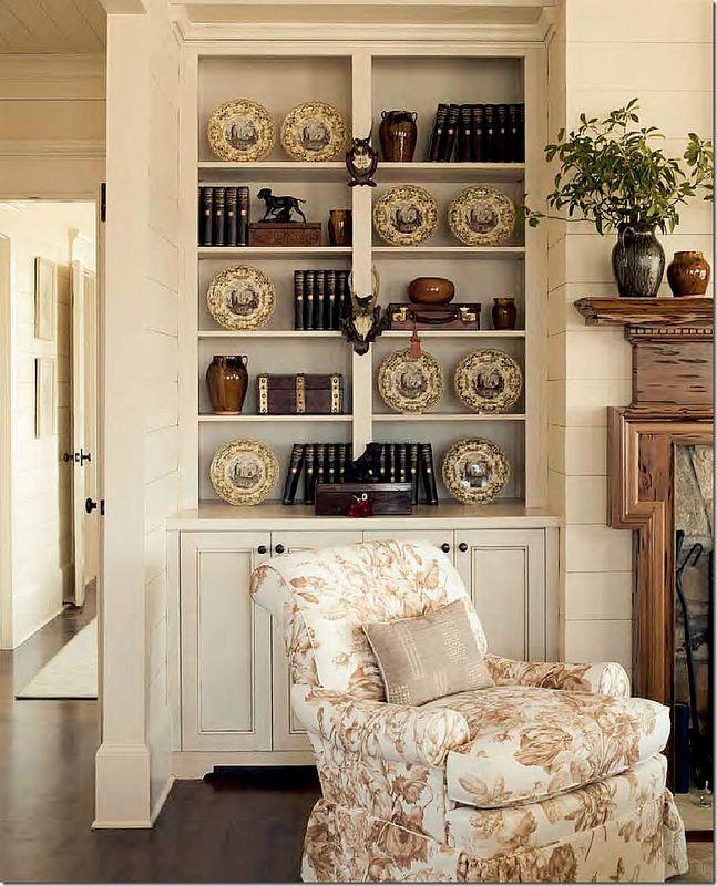 image: Bookshelves, Living Rooms, Plates, Built In, Chairs, Books Shelves, Builtin, Phoebe Howard, Bookca Style