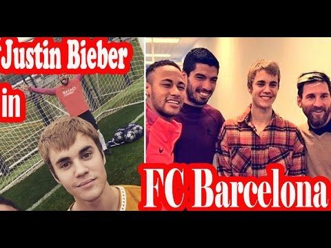 Justin Bieber at Barcelona training & Justin Bieber joins Lionel Messi Neymar Jr  at Barcelona training !!  Watch as Barcelona warm-up for Celtic clash by inviting JUSTIN BIEBER to join in training  Justin Bieber drops in on Lionel Messi Neymar and Luis Suarez at Barcelona  As he tends to do from time to time Justin Bieber took time out of his ongoing world tour to drop in on his chums at Barcelona at training on Monday morning.  Having enjoyed a friendly game of keepy-uppies in Bieber's…