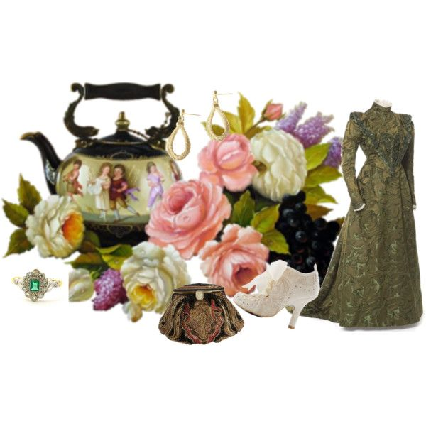 """Victorian Kettle"" by jeanstapley on Polyvore"