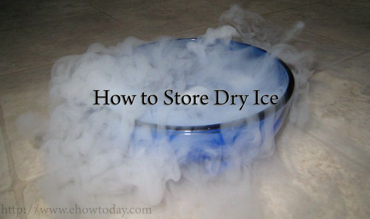 how to make dry ice with household items