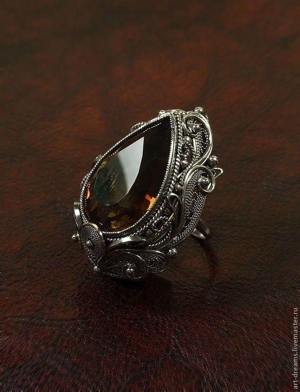 """Купить Перстень  """"Перстень Царь-девицы"""" - аметрин, перстень, роскошный подарок, сказка, царь-девица"""