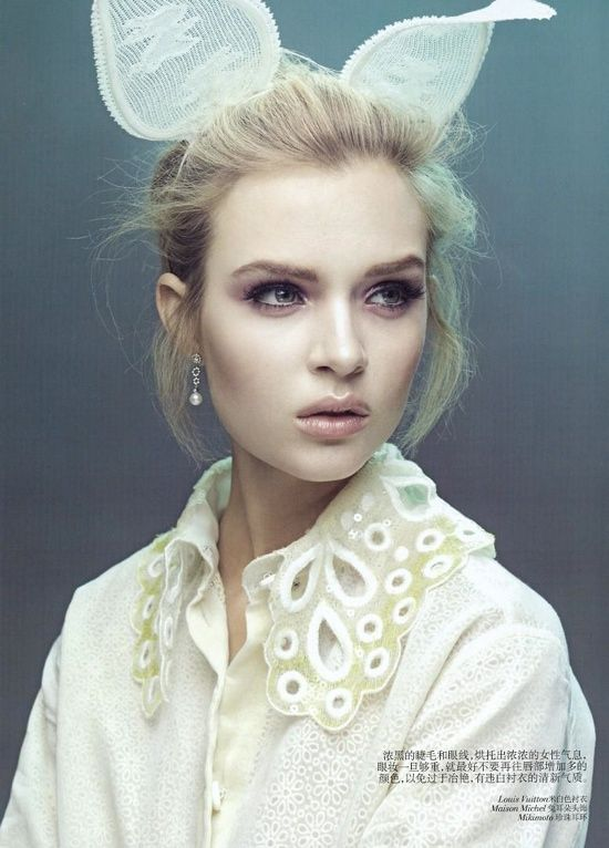 Vogue China Beauty Editorial March 2012 Josephine Skriver 1