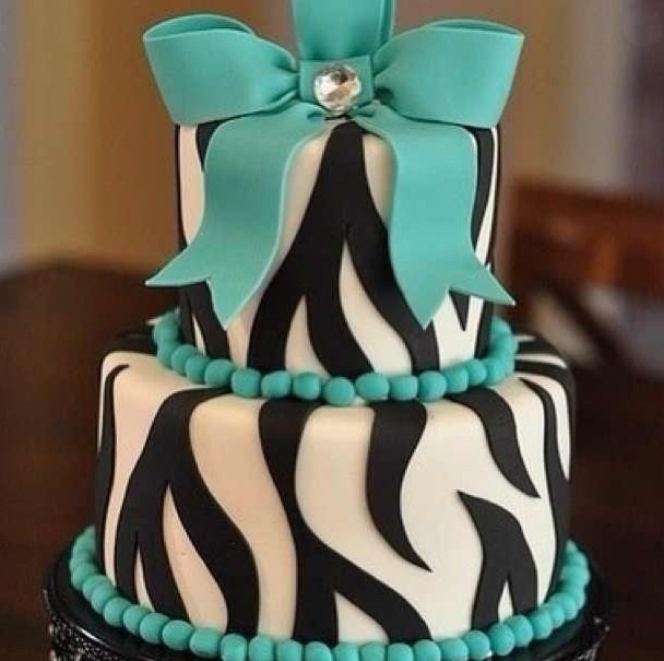 21st Birthday Cake I Think So But In Chevron Or Maybe Leopard