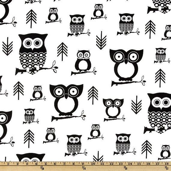 Hooty black and white owls print valance 52 by gracielousgoodies, $17.00