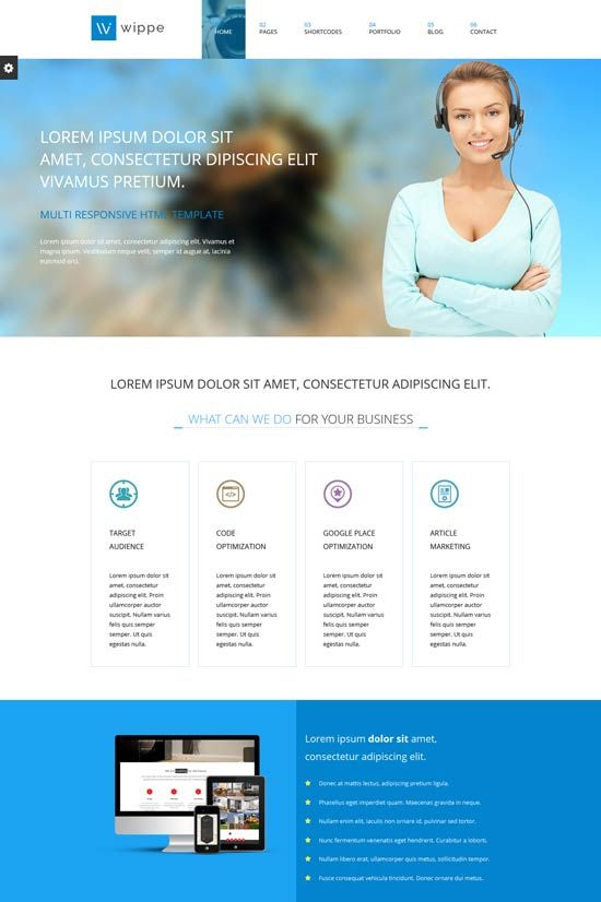 website templates for business