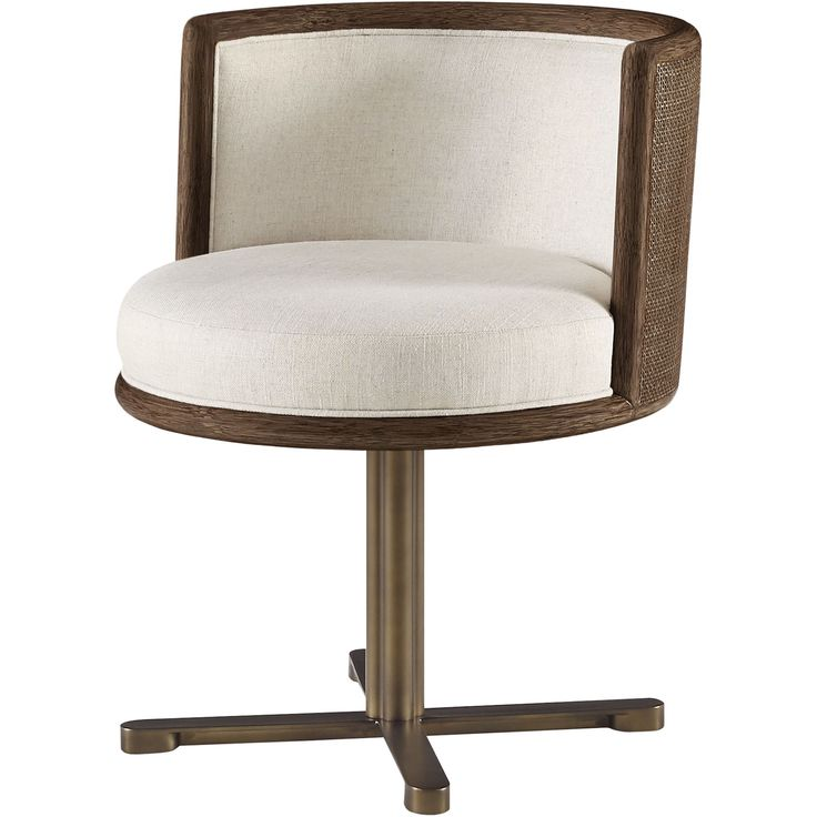 Buy Barbara Barry Canyon Swivel Dining Chair by McGuire Furniture - Quick Ship designer Furniture from Dering Hall's collection of Art Deco Dining Chairs.