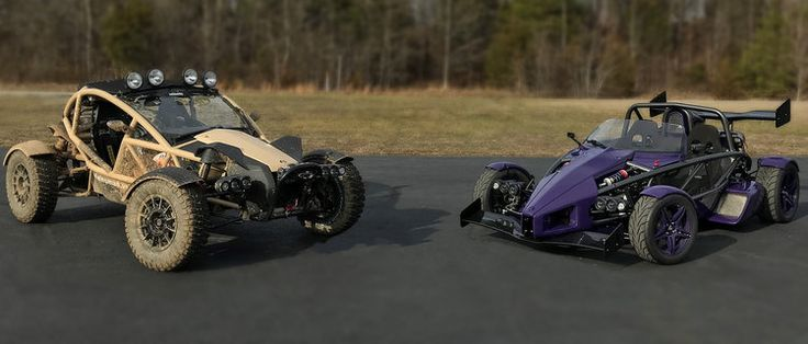 -Our Ariel Nomad Tactical demo in its seemingly natural color (mud covered) and the Ariel Atom 3S