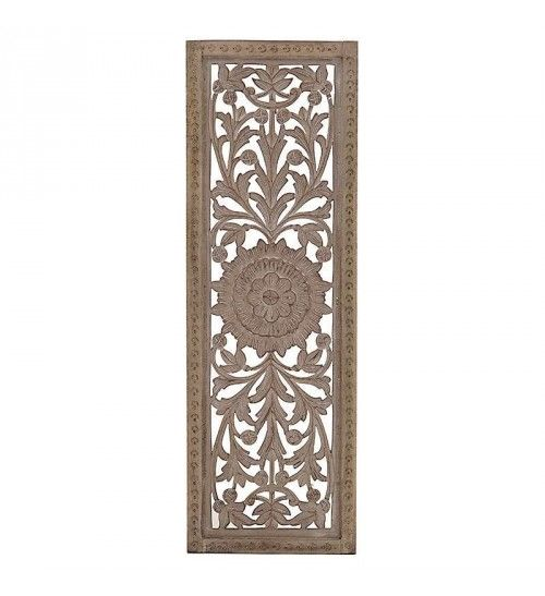 WOODEN WALL DECOR IN BEIGE COLOR 40X3X120