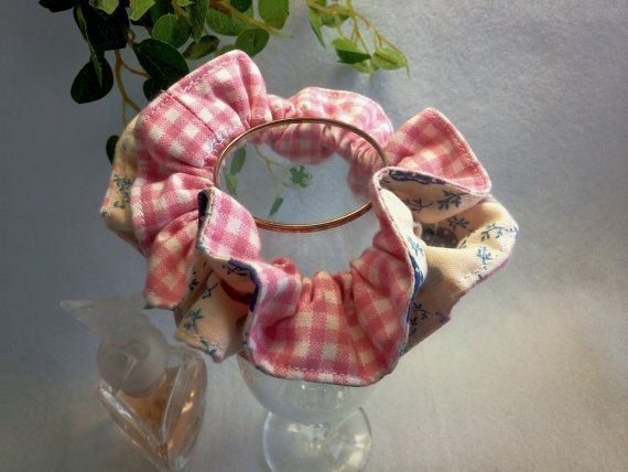"Japanese hand kawaii shushu / Reversible and Frilled Scrunchy / Scrunchie - 3.9"" (10cm) / #33 by YuminaCafe, ¥500"