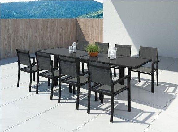 hara xl table de jardin extensible