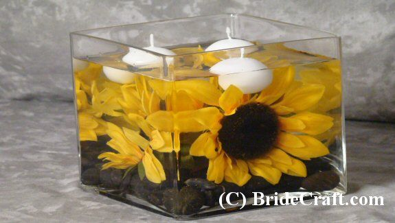 sunflower centerpieces wedding | Design a Quick and Affordable Silk Sunflower Centerpiece!