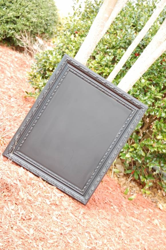 DIY Chalkboard: From 90's Style Mirror to Gothic/Chic Chalkboard for only $8! Great graduate gift idea!
