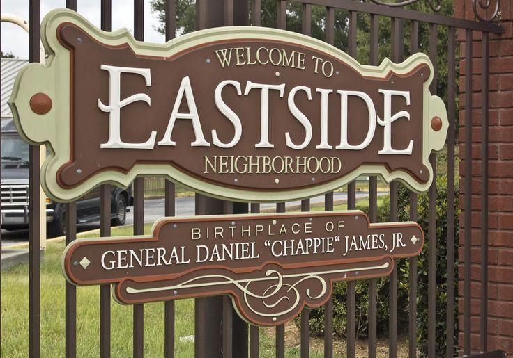 """Eastside Neighborhood Sign """"welcome to motherhood"""" A neighborhood like no other"""