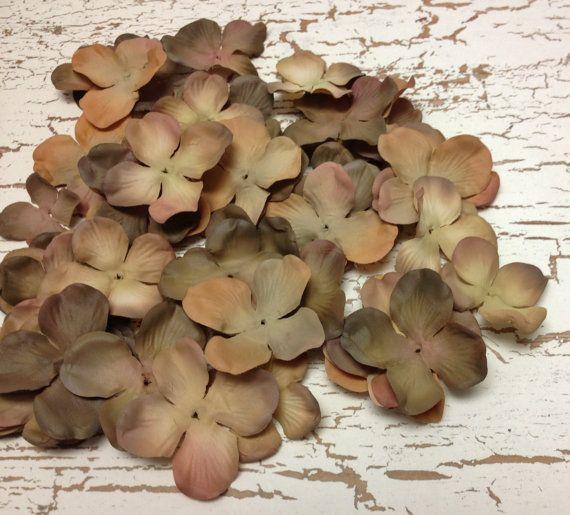 Silk Flowers  One Lot of 50 Dry Look Hydrangea by BlissfulSilks