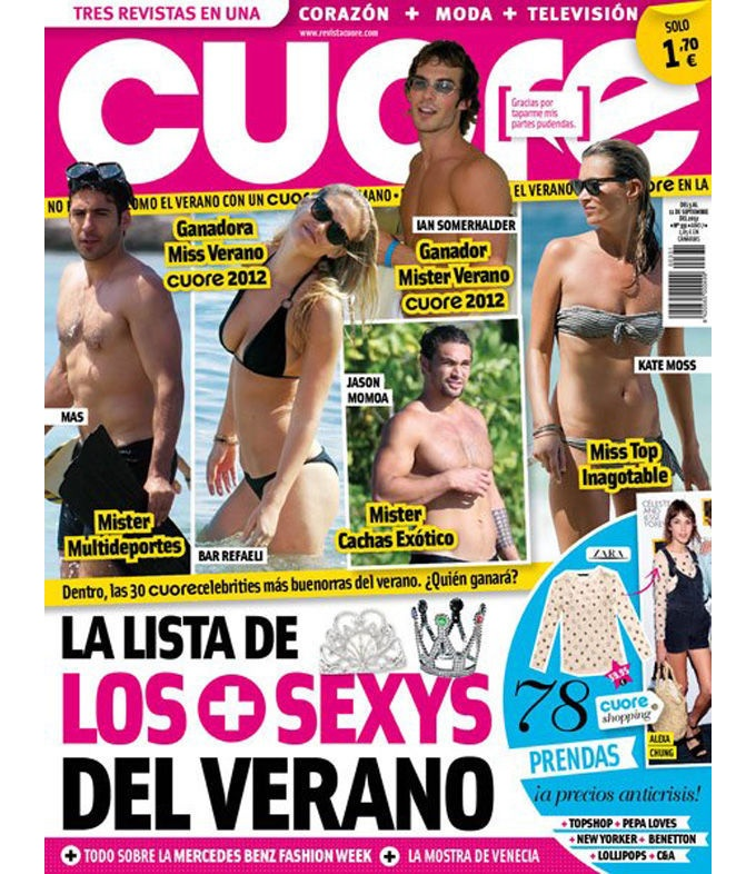 """Revistas del Corazón: Las portadas de la semana - Jueves, 6 de septiembre > """"Cuore"""""""