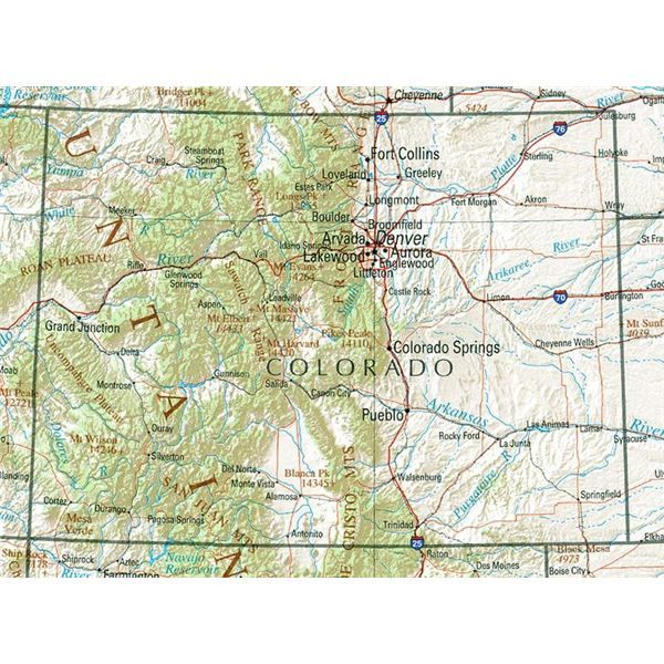 Best Colorado State Diorama Images On Pinterest School - Colorado state road map